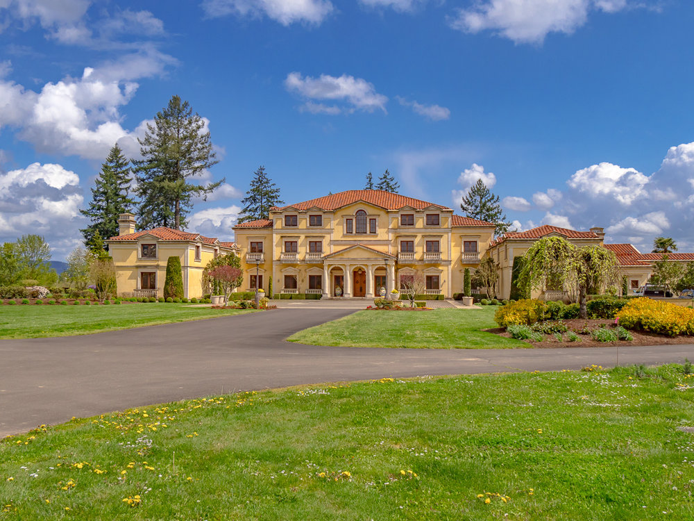 Yamhill County Custom Home Driveway