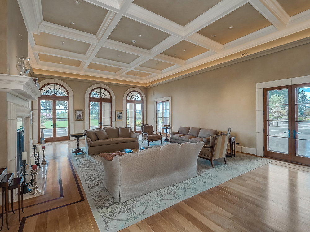 Yamhill County Custom Home Living Room