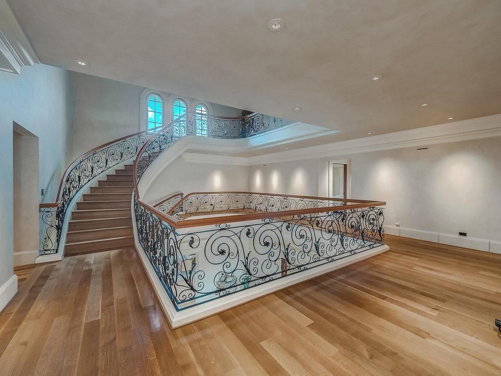 Yamhill County Custom Home Stairway