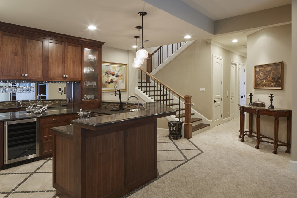 Newberg Custom Home Basement