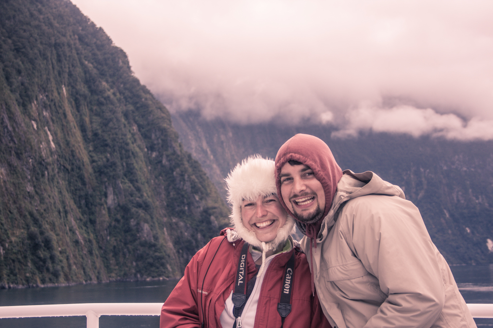 Samuel and Virginie from SV Photograph in Fjordland, New Zealand