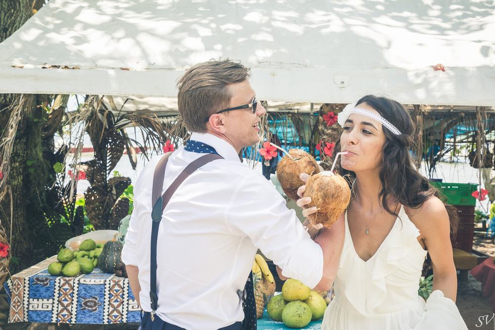 Coconut celebration for a destination wedding