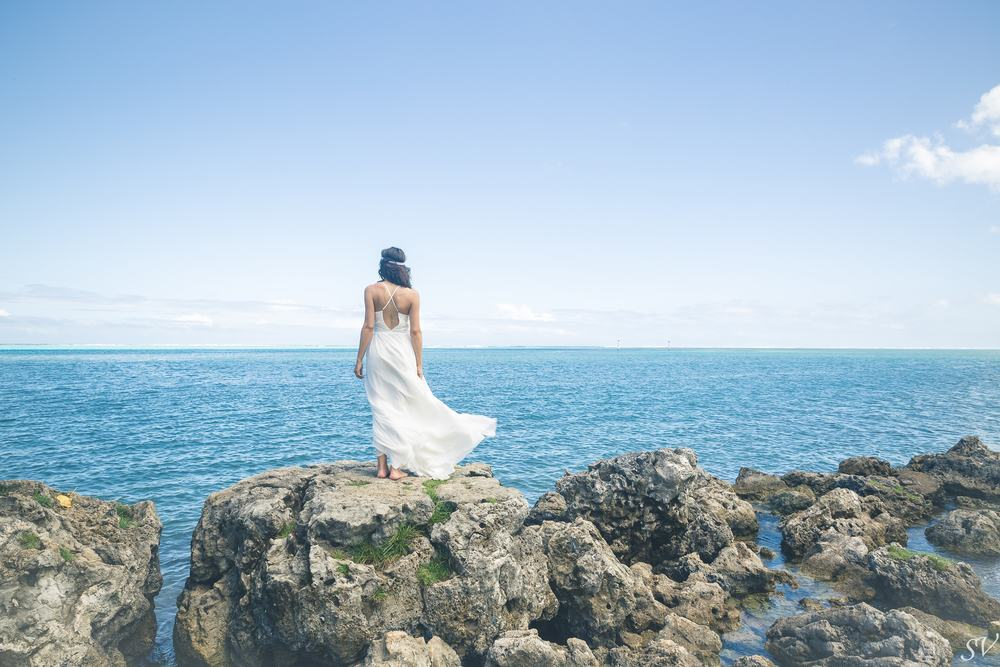 Bridal shoot into a beautiful landscape