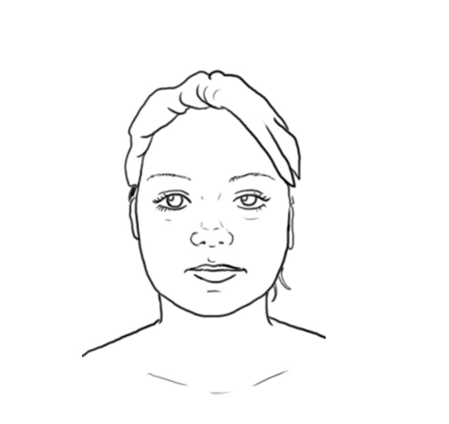 Portrait de face