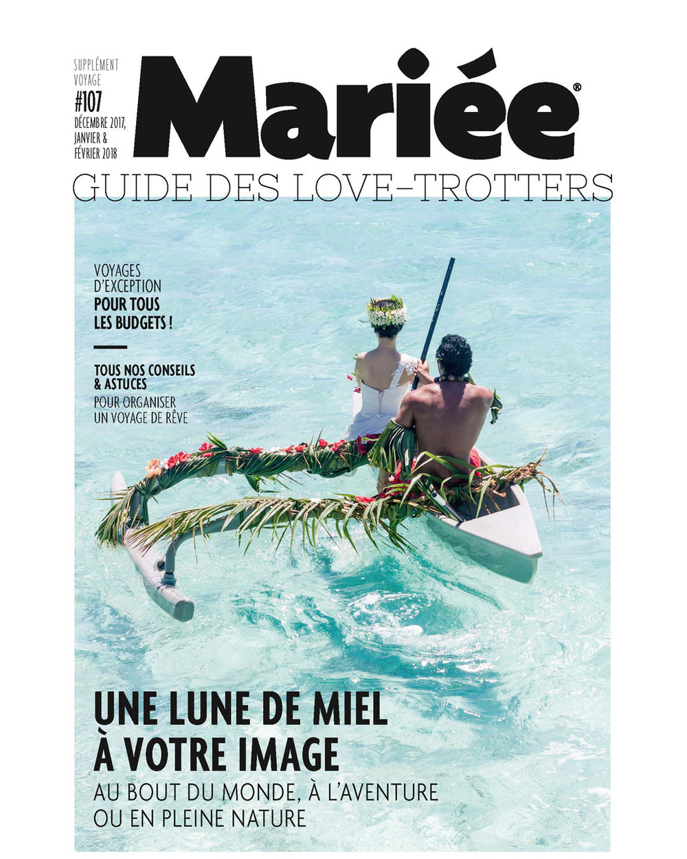 "Cover of ""Mariée""  Guide of Love-Trotters / December 2017, January, February 2018  French magazine about wedding and brides"