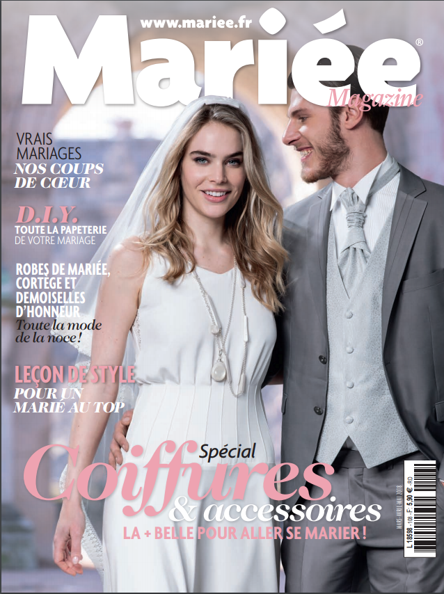 Mariée Magazine - FRANCE - The team of Mariée Magazine choose the wedding of Kelani and Jonathan with the two ceremonies on the beach.