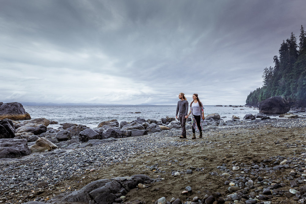 Adventure session on Sooke, Vancouver Island, Canada.