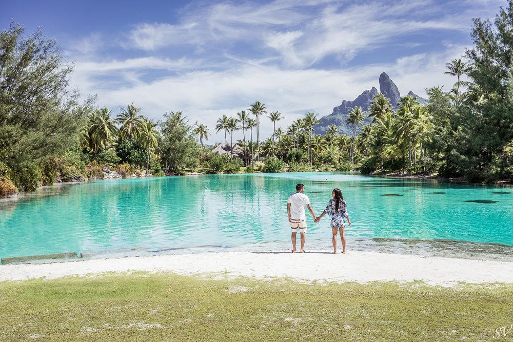 Boudoir & honeymoon photo session - Marissa + Ravi - Four Seasons Bora Bora