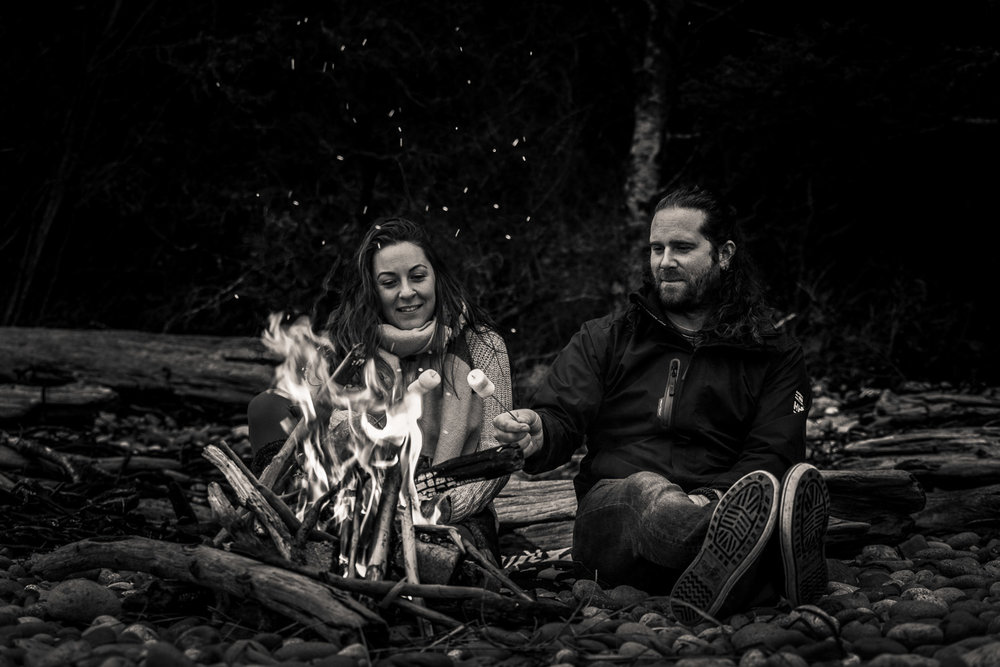 Adventure couple photo session mystic beach