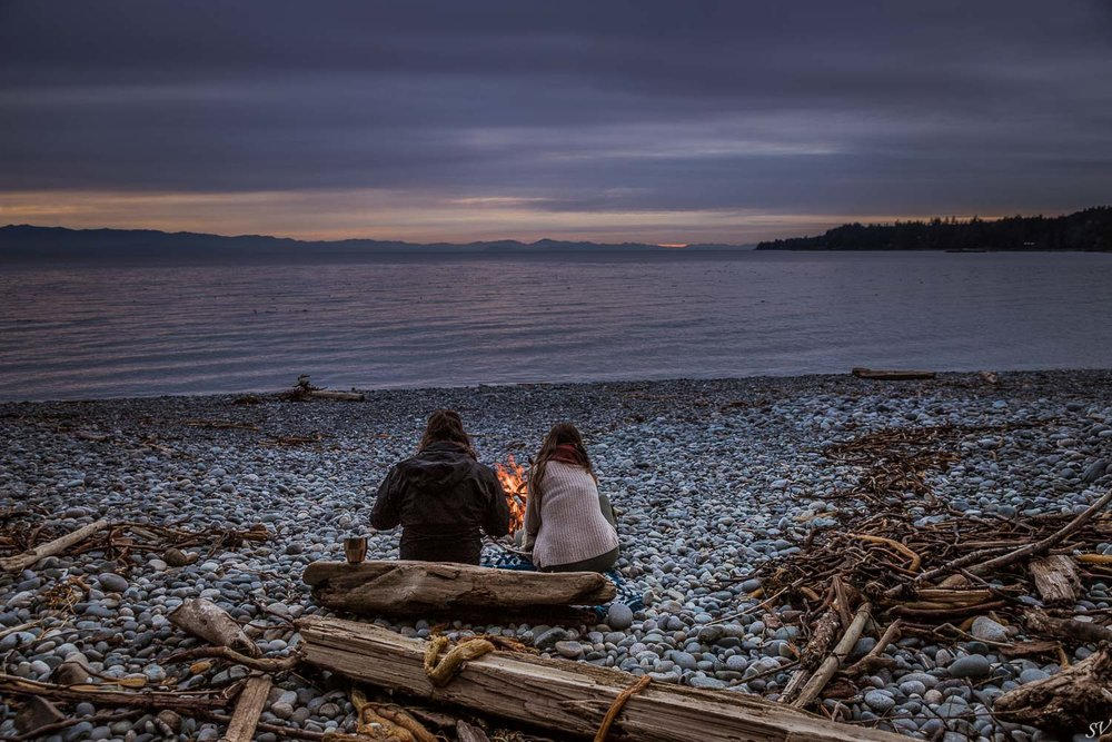 Campfire with view