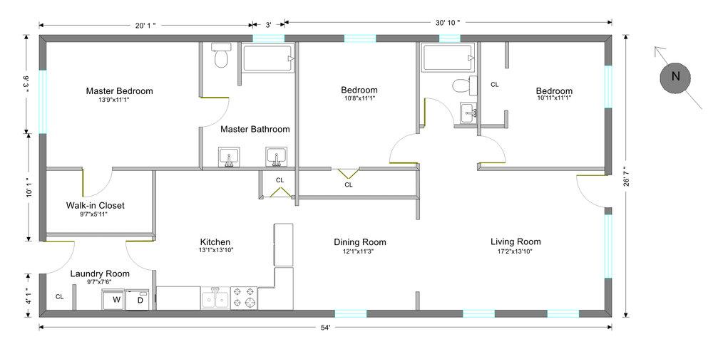 2d floor plan real estate