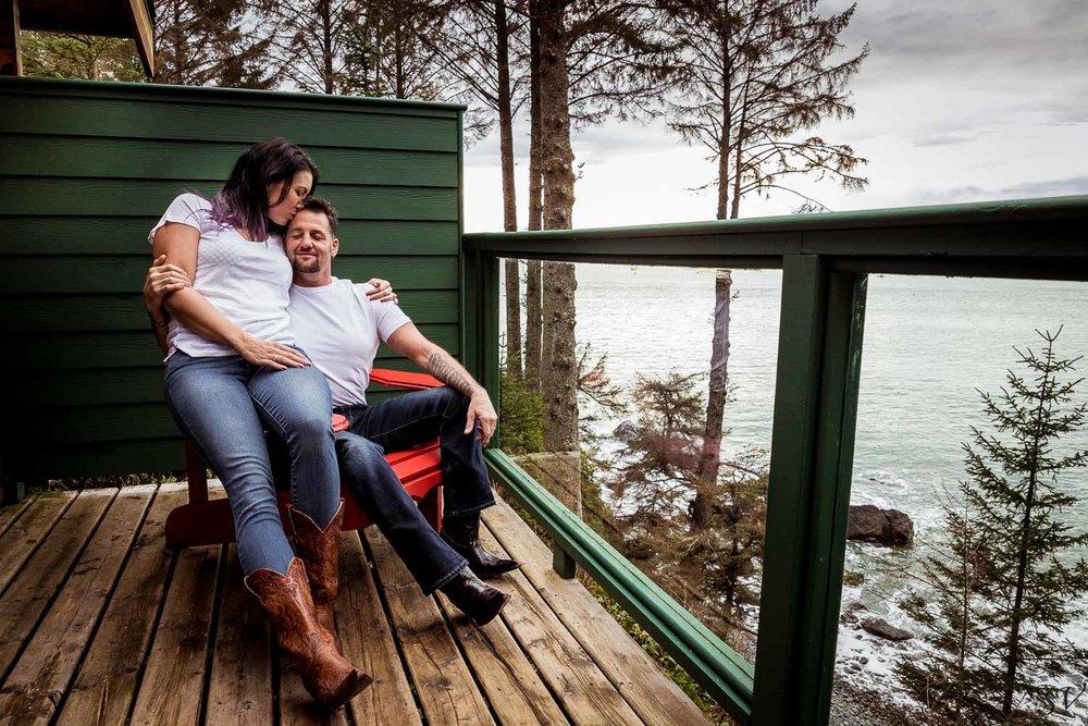 wood cabin in Canada