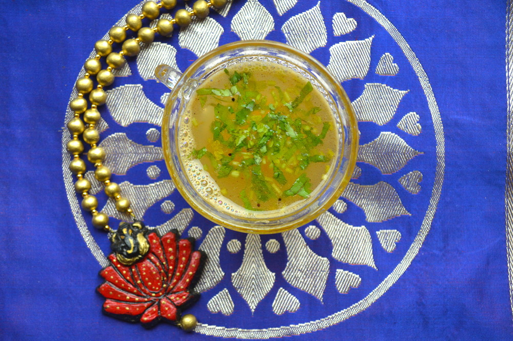 rasam, spicy, soup, onelifetwoways, south indian, vegan