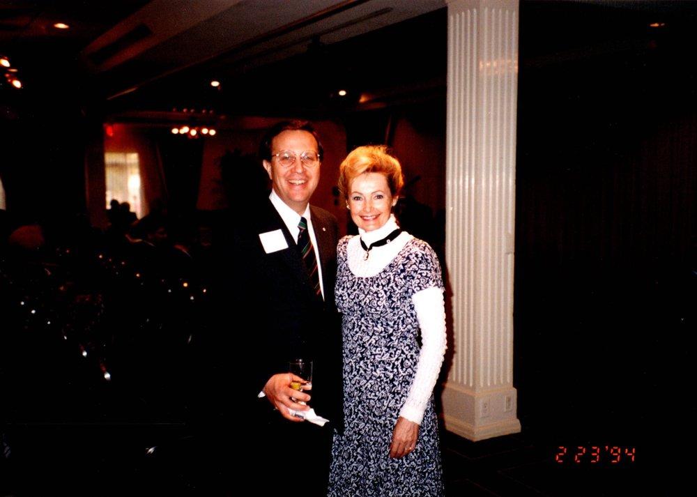 1994 - YALE PRESIDENT RICHARD LEVIN, MARGARET WHITE