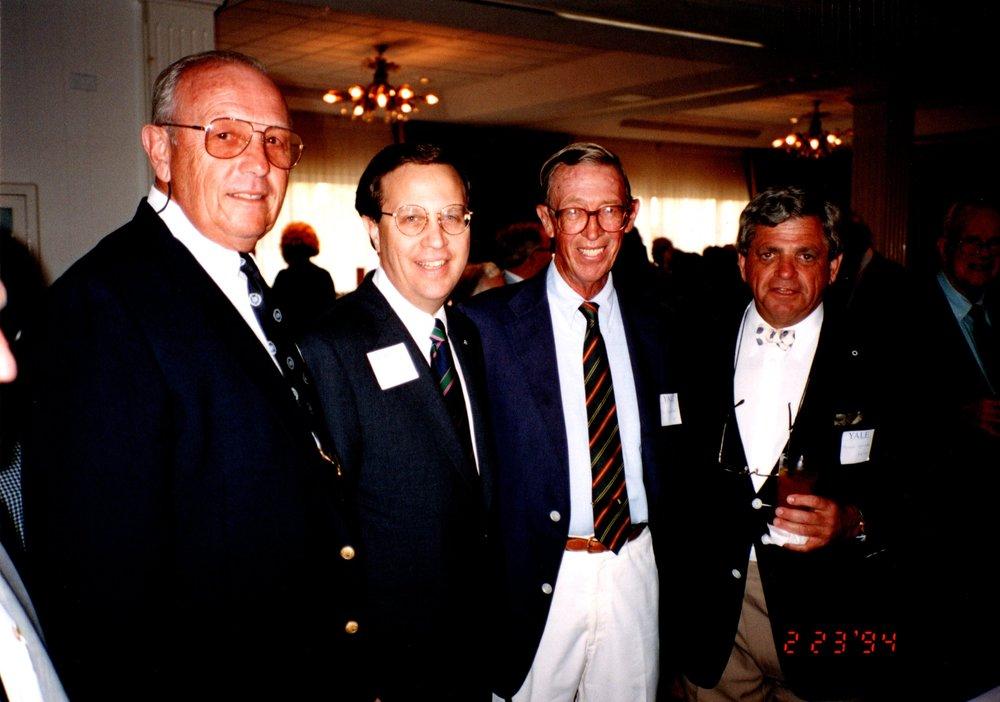 KEN BRUCE '53E, RICHARD LEVIN, PETE BROADBENT 47E, ARONOLD GARFINKEL '62MA
