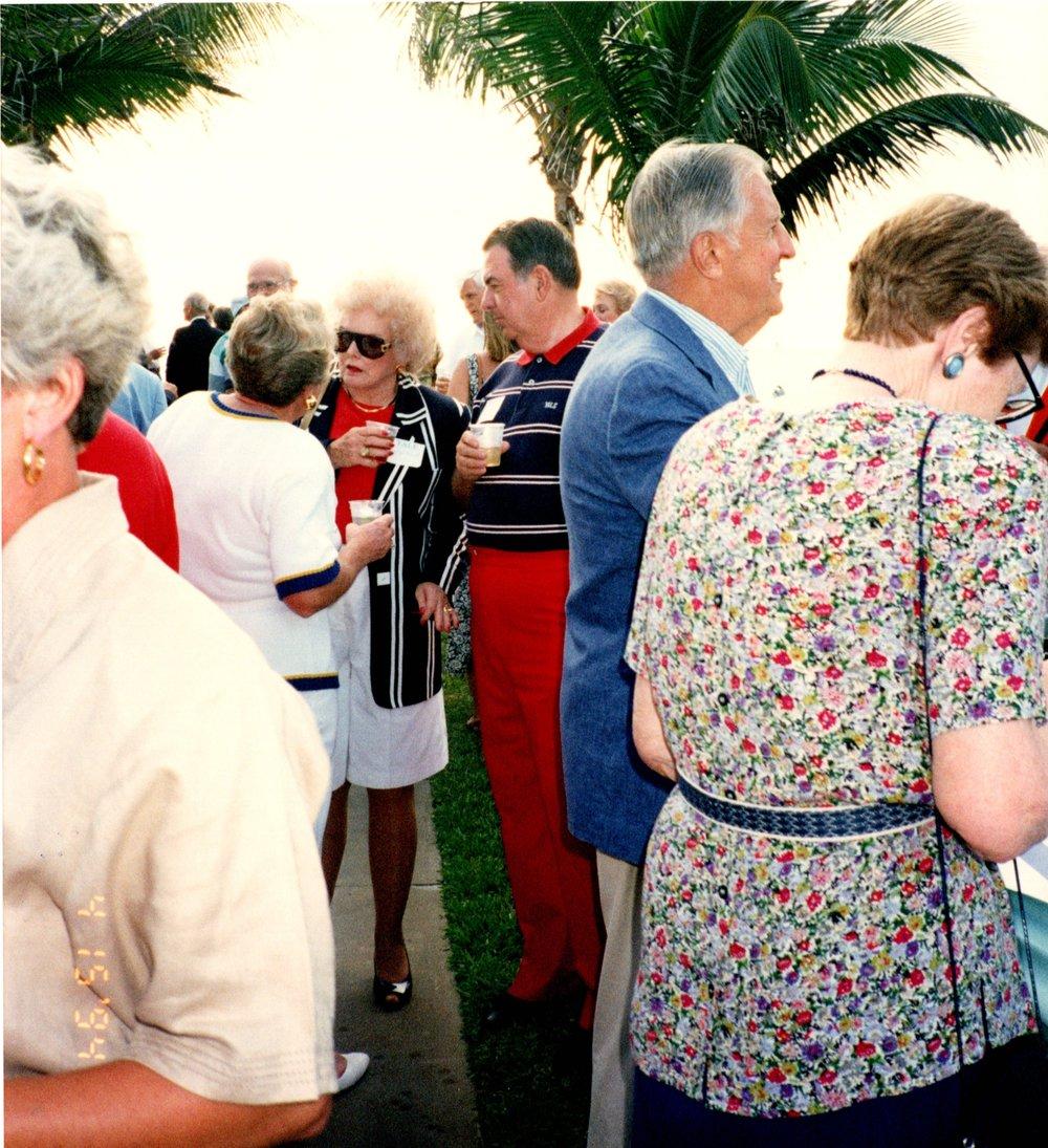 BARTHA BENNETT, DICK BENNETT '52, JOAN  HELMSDERFER '43,, ANN HELMSDERFER