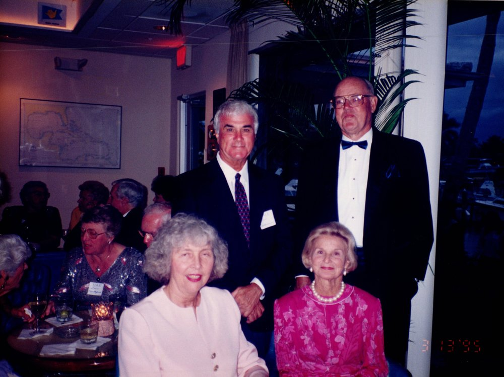 SUE CORNISH, JIM HULLVERSION '50, SHIRLEY HULLVERSON, BILL CORNISH '52