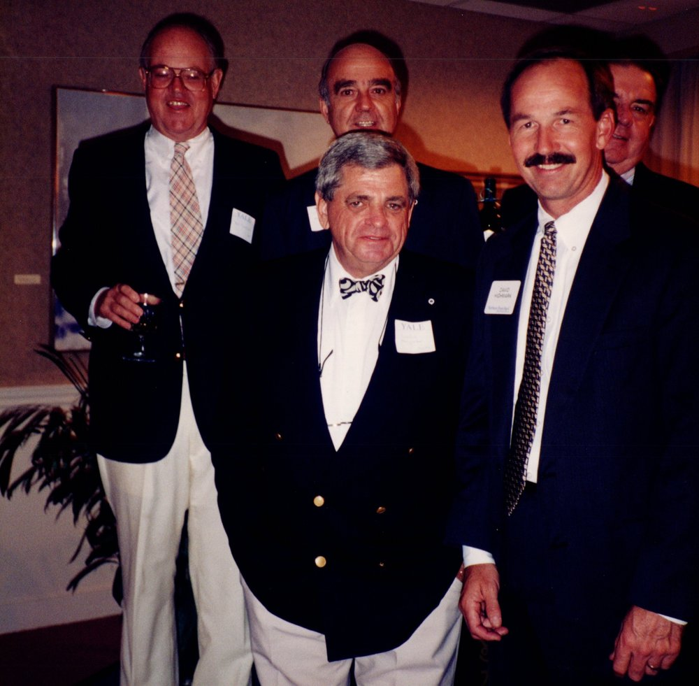 BILL CORNISH '52, BOB WENZEL '53E, DICK BENNETT '52, ARNOLD GARFINKEL '62MA, DAVID HIGHMARK