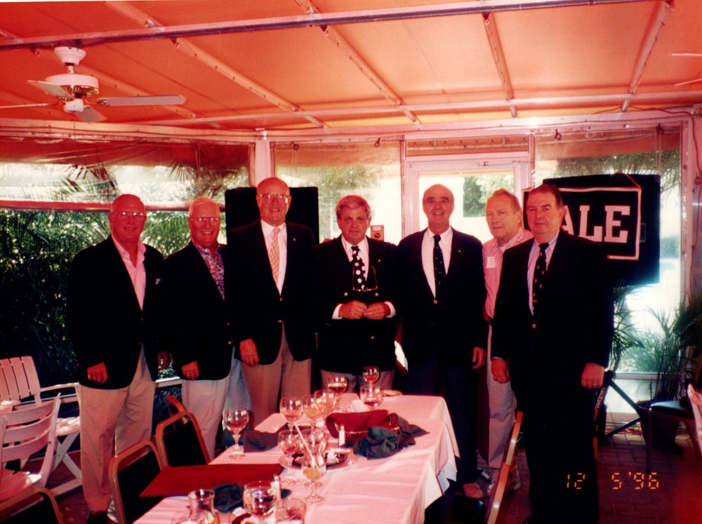 TERRY FOSTER '56, TOM MACELFRESH '51, BILL CORNISH '52, ARNOLD GARFINKEL '62 MA, GEORGO ISBELL '46, BOB WENZEL '53 E, DICK BENNETT '53