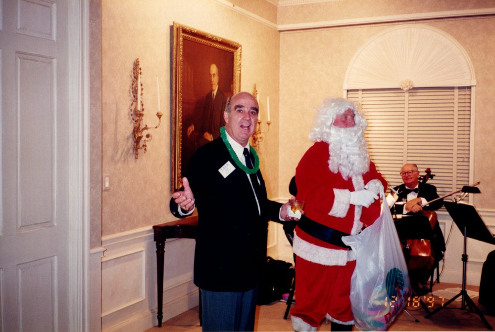 BOB WENZEL '53E WITH SANTA CLAUS (TORREY FOSTER '56)