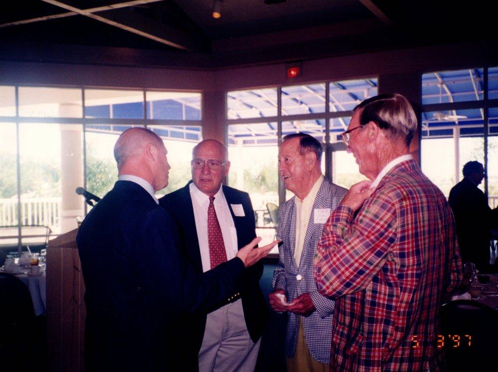 JACK SIEDLECKI, CARM COZZA, CHARLIE O'HERN '24S, PETE BROADBENT '47E