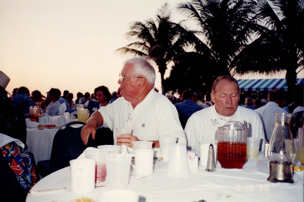 GEORGE ISBELL '46 (RIGHT), TOM MACKELFRESH '51