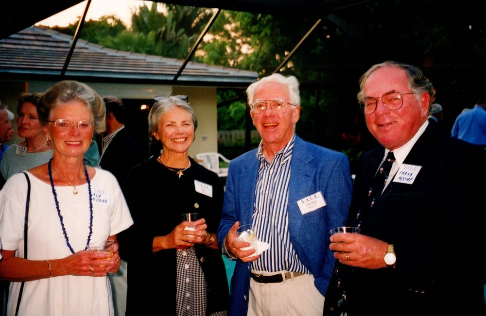 SUE MOORE, SALLY AND GEORGE WILEY '57, FRANK MOORE '55
