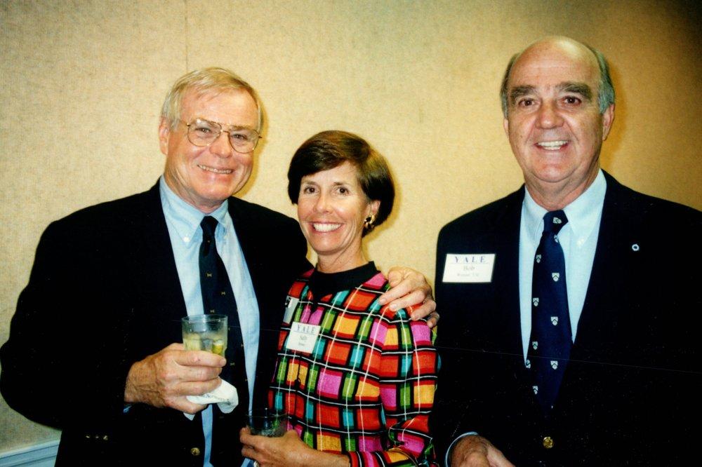 SALLY AND JIM BROWN '56, BOB WENZEL '53E