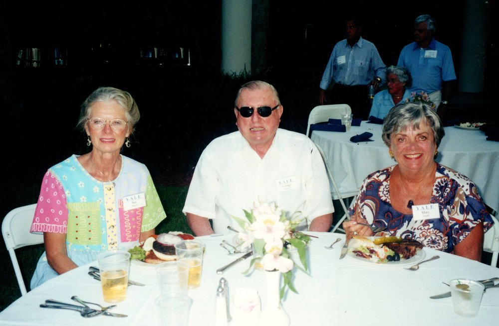 SUE MOORE, MARY AND GEORGE GOULD '51