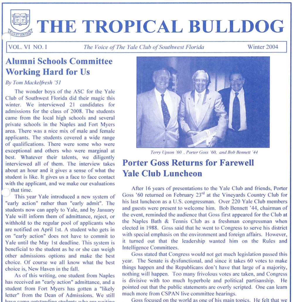 Tropical Bulldog 2004 Vol VI No I Winter