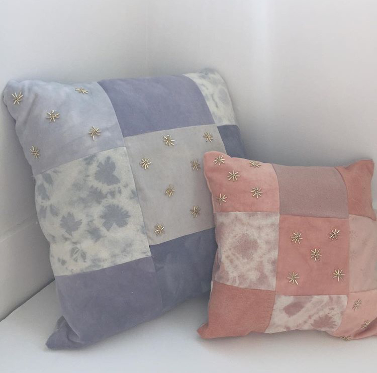Shibori Velvet Pillows