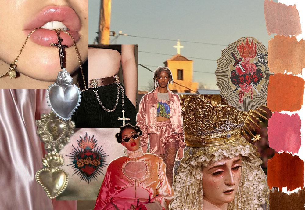 Sacred Hearts mood and inspiration board