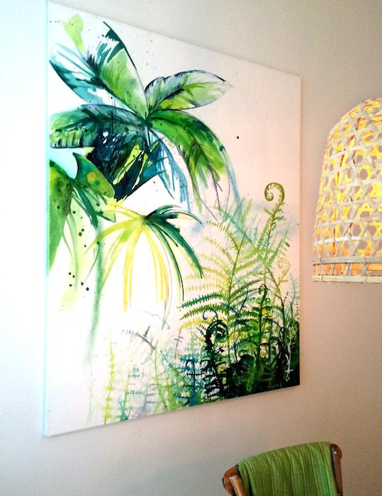 SÅLD! MOWGLI -Akryl på duk, 120 x 150 cm