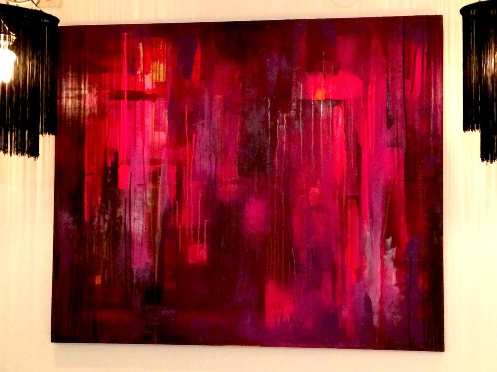 SÅLD!   Akryl på duk, 120 x 100 cm