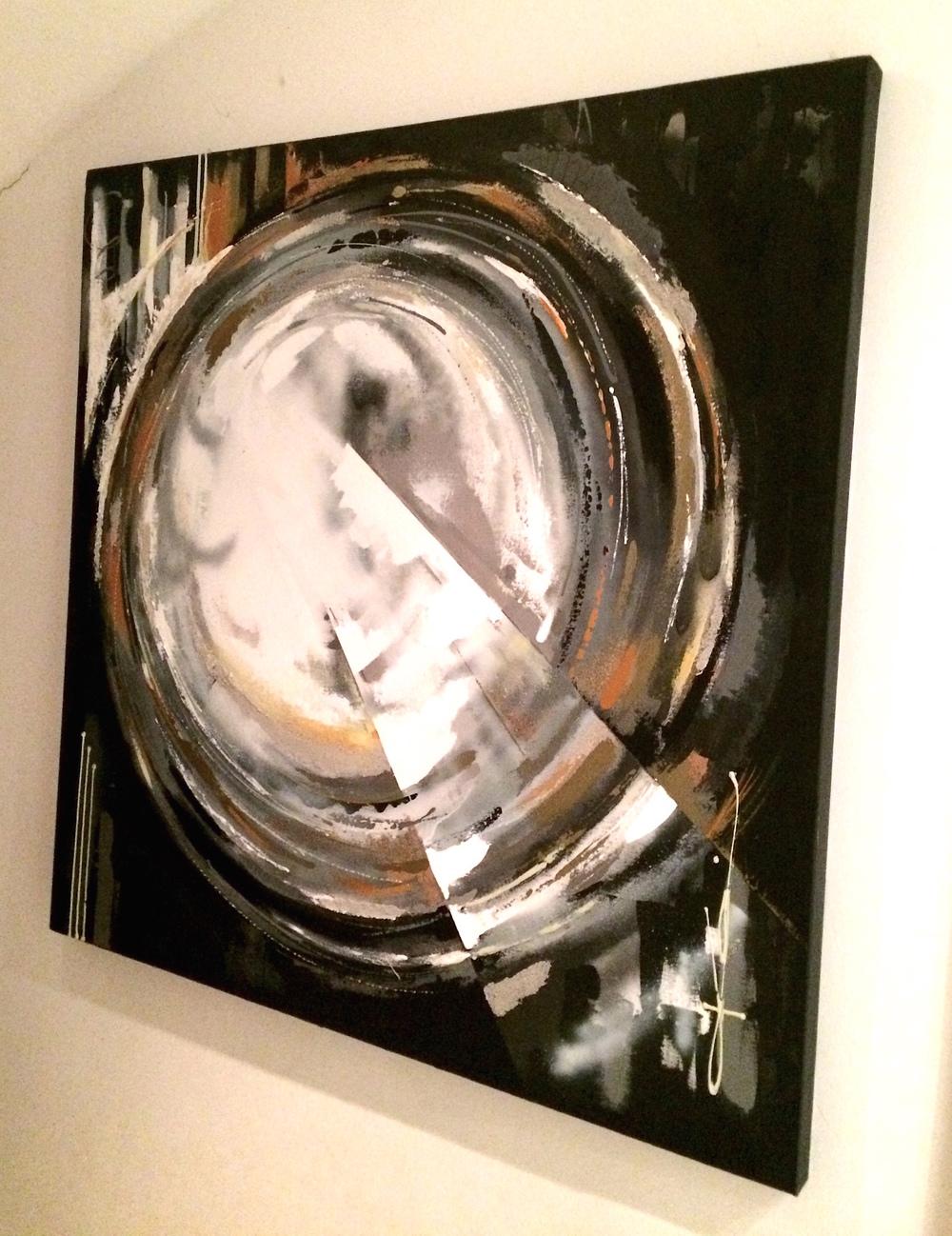 ÅSKA - Akryl på duk, 100 x 100 cm   Pris: 8 500 kr