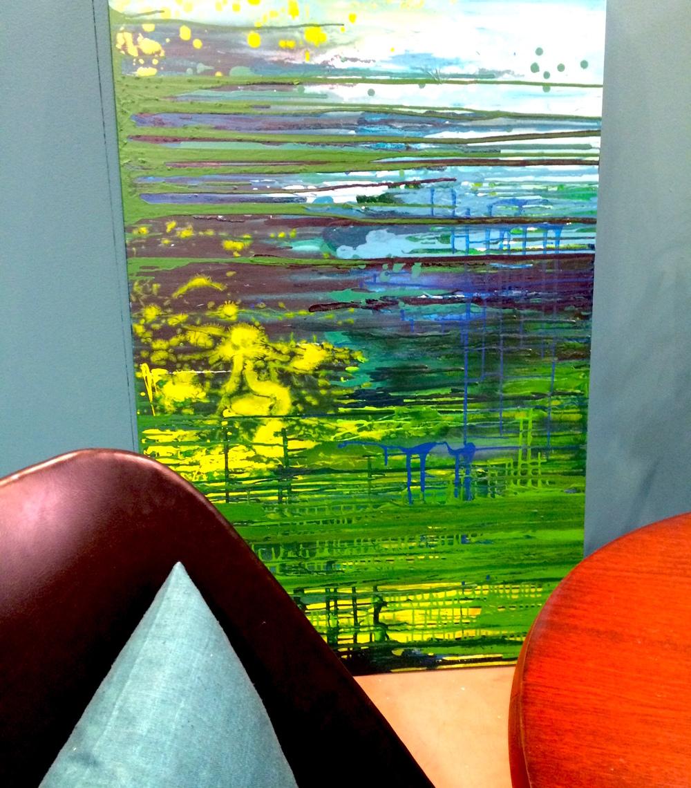 NÄCKEN  - Akryl på duk, 100 x 180 cm   Pris: 8 500 kr