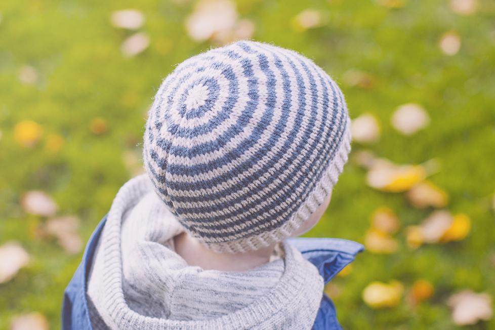 WoollenTop Handmade Stripe Knit Hat from Woollen Top.