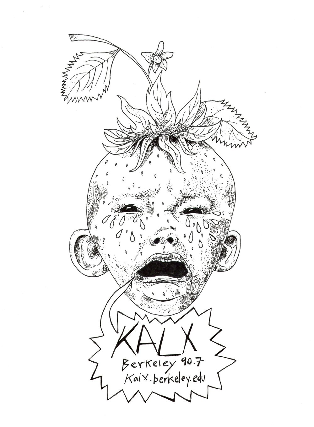 KALX Radio Station t-shirt design. 2016.
