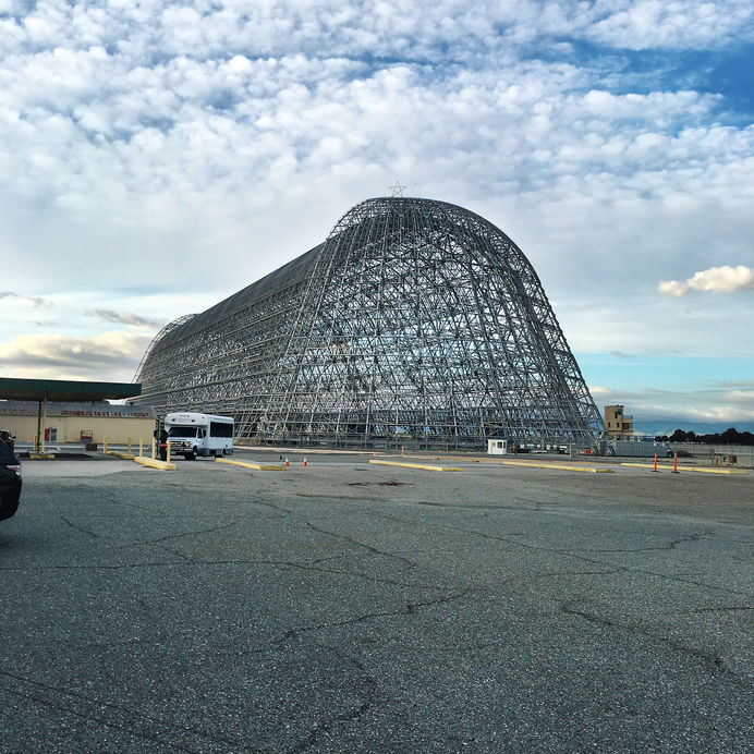 Moffett Field Hangar One in Mountain View, CA