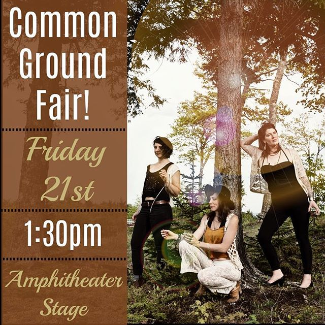Come and see us next at the Common Ground Fair! Find us at the Amphitheater stage Friday at 1:30pm. @mofga