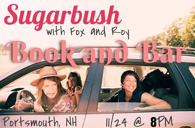 This Saturday come see us in Portsmouth, NH at Book and Bar! Fox + Roy will be opening up the night.