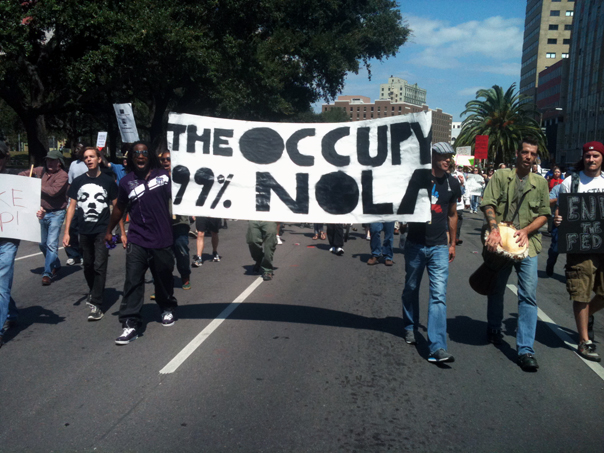 OCCUPY WALL STREET, HERE? PONDERING COMMON DENOMINATORS. / THE NEW ORLEANS' INVESTIGATIVE JOURNAL / 2011