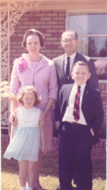 Mom's garden - on an Easter Sunday.  She and I always wore new outfits she made.