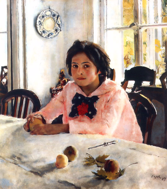 """Girl with peaches"", Valentin Serov. 1887. Tretyakov Gallery, Moscow"