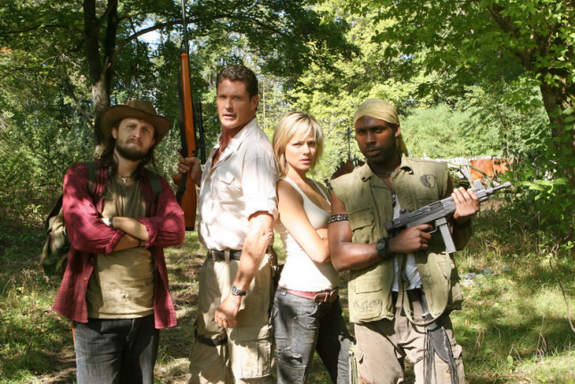 David Hasselhoff and Crystal Allen at  Anaconda 3 (2008) - Dir.  Don E. FauntLeRoy