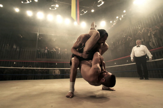 Scott Adkins and Marko Zaror at Undisputed 3 (2009) - Dir.  Isaac Florentine