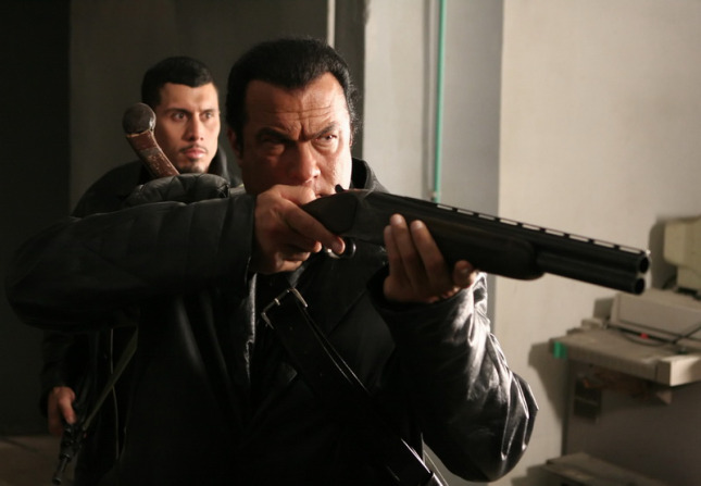 Steven Seagal at Against the Dark (2008)  - Dir.  Richard Crudo