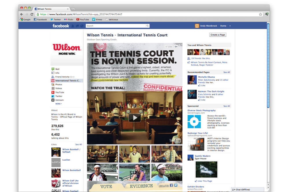 wilson tennis website