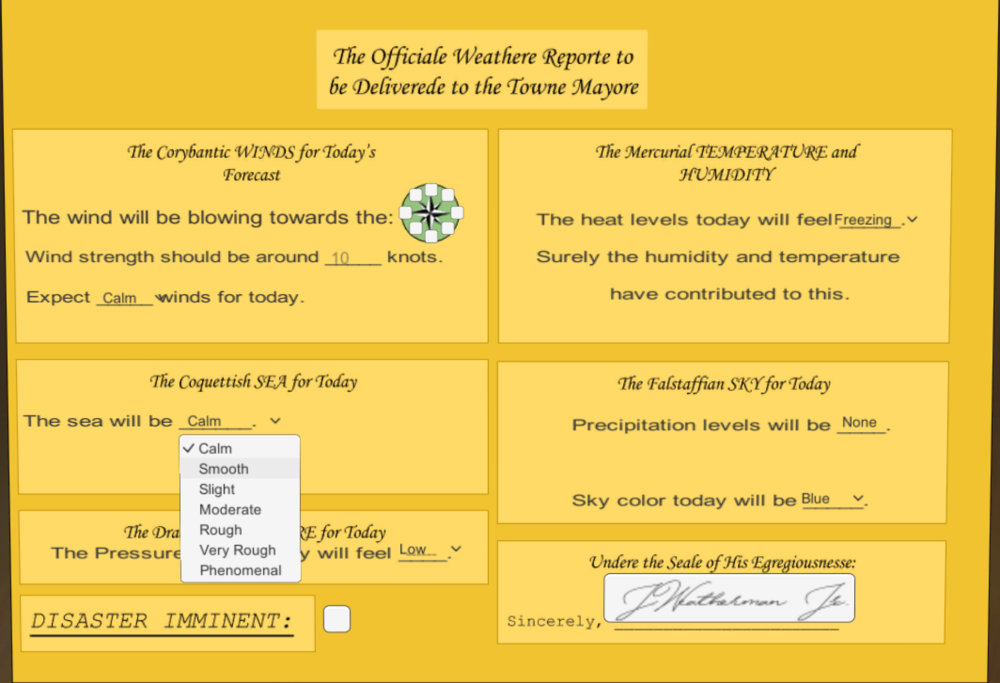 Forecasting Form