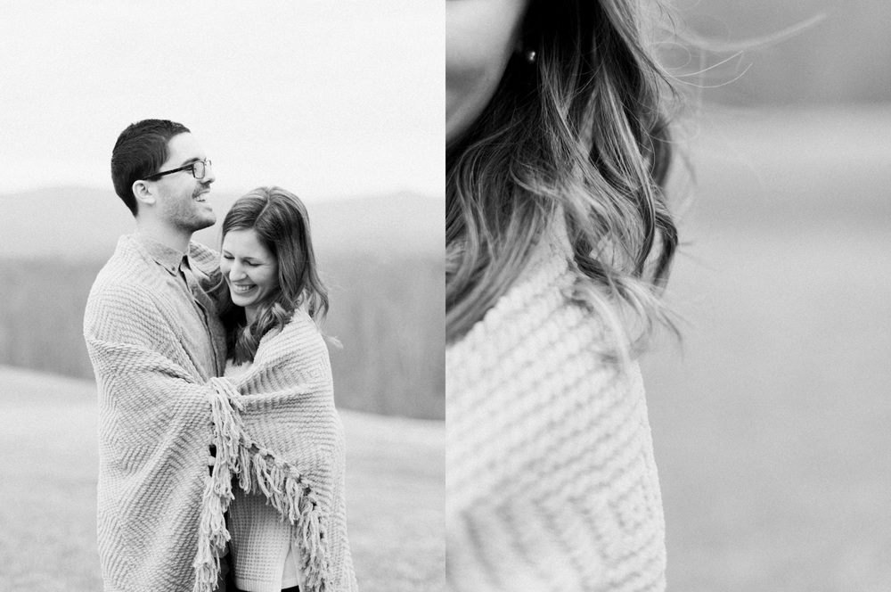 Sierra Vista Romantic Mountain Engagement | Film Photography | Yellow Blanket and Cabin | Lynchburg, Virginia | Kelsey & Nate | kelseyandnate.com